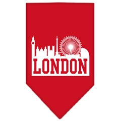 Mirage Pet Products London Skyline Screen Print Bandana Red Small