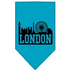 Mirage Pet Products London Skyline Screen Print Bandana Turquoise Small