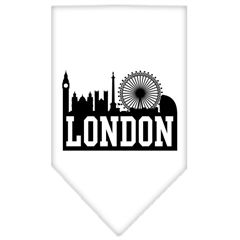 Mirage Pet Products London Skyline Screen Print Bandana White Large