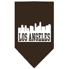 Mirage Pet Products Los Angeles Skyline Screen Print Bandana Cocoa Large