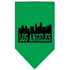 Mirage Pet Products Los Angeles Skyline Screen Print Bandana Emerald Green Large