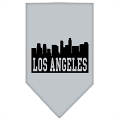 Mirage Pet Products Los Angeles Skyline Screen Print Bandana Grey Small