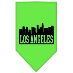 Mirage Pet Products Los Angeles Skyline Screen Print Bandana Lime Green Small