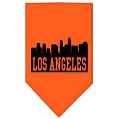 Mirage Pet Products Los Angeles Skyline Screen Print Bandana Orange Large