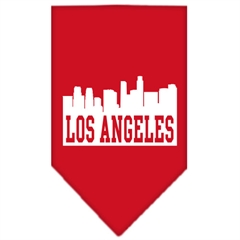 Mirage Pet Products Los Angeles Skyline Screen Print Bandana Red Large