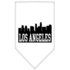 Mirage Pet Products Los Angeles Skyline Screen Print Bandana White Large