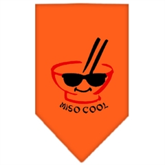 Mirage Pet Products Miso Cool Screen Print Bandana Orange Small