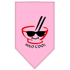 Mirage Pet Products Miso Cool Screen Print Bandana Light Pink Small