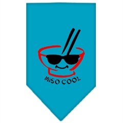 Mirage Pet Products Miso Cool Screen Print Bandana Turquoise Large