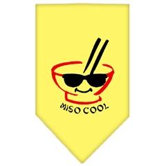 Mirage Pet Products Miso Cool Screen Print Bandana Yellow Small