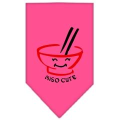 Mirage Pet Products Miso Cute Screen Print Bandana Bright Pink Small