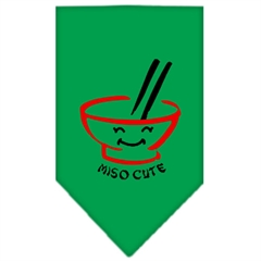 Mirage Pet Products Miso Cute Screen Print Bandana Emerald Green Small