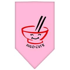 Mirage Pet Products Miso Cute Screen Print Bandana Light Pink Large
