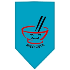 Mirage Pet Products Miso Cute Screen Print Bandana Turquoise Large