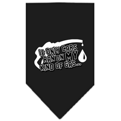 Mirage Pet Products My Kind Of Gas Screen Print Bandana Black Small