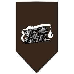 Mirage Pet Products My Kind Of Gas Screen Print Bandana Cocoa Large