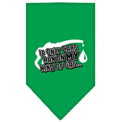 Mirage Pet Products My Kind Of Gas Screen Print Bandana Emerald Green Small
