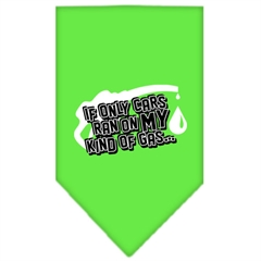 Mirage Pet Products My Kind Of Gas Screen Print Bandana Lime Green Small