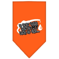 Mirage Pet Products My Kind Of Gas Screen Print Bandana Orange Large