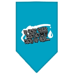 Mirage Pet Products My Kind Of Gas Screen Print Bandana Turquoise Large