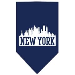 Mirage Pet Products New York Skyline Screen Print Bandana Navy Blue Small