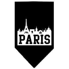 Mirage Pet Products Paris Skyline Screen Print Bandana Black Large