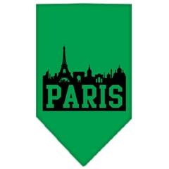 Mirage Pet Products Paris Skyline Screen Print Bandana Emerald Green Small