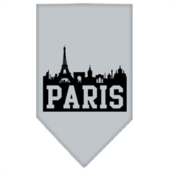 Mirage Pet Products Paris Skyline Screen Print Bandana Grey Small
