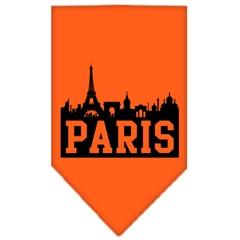 Mirage Pet Products Paris Skyline Screen Print Bandana Orange Large