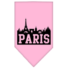 Mirage Pet Products Paris Skyline Screen Print Bandana Light Pink Large