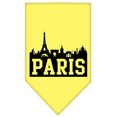 Mirage Pet Products Paris Skyline Screen Print Bandana Yellow Small