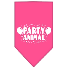 Mirage Pet Products Party Animal Screen Print Bandana Bright Pink Small