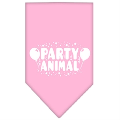 Mirage Pet Products Party Animal Screen Print Bandana Light Pink Large
