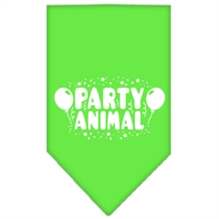 Mirage Pet Products Party Animal Screen Print Bandana Lime Green Large