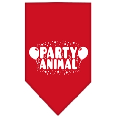 Mirage Pet Products Party Animal Screen Print Bandana Red Small