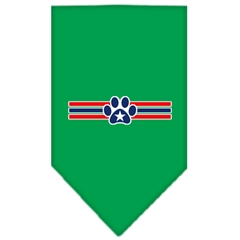 Mirage Pet Products Patriotic Star Paw Screen Print Bandana Emerald Green Small
