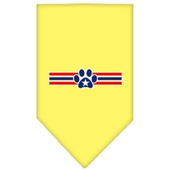 Mirage Pet Products Patriotic Star Paw Screen Print Bandana Yellow Small