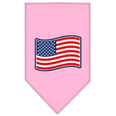 Mirage Pet Products Paws and Stripes Screen Print Bandana Light Pink Large