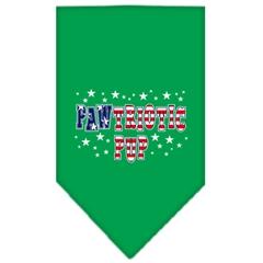 Mirage Pet Products Pawtriotic Pup Screen Print Bandana Emerald Green Large
