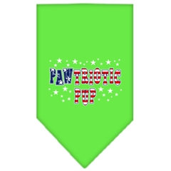 Mirage Pet Products Pawtriotic Pup Screen Print Bandana Lime Green Large