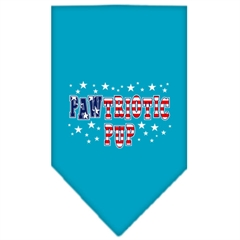 Mirage Pet Products Pawtriotic Pup Screen Print Bandana Turquoise Small