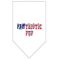 Mirage Pet Products Pawtriotic Pup Screen Print Bandana White Small