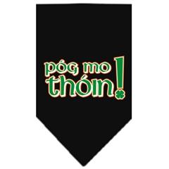 Mirage Pet Products Pog Mo Thoin Screen Print Bandana Black Small
