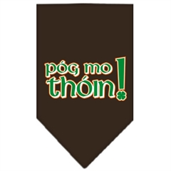 Mirage Pet Products Pog Mo Thoin Screen Print Bandana Cocoa Large