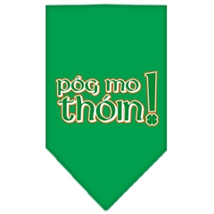 Mirage Pet Products Pog Mo Thoin Screen Print Bandana Emerald Green Large