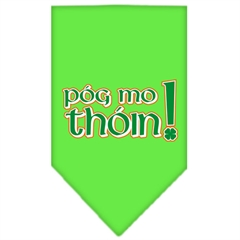 Mirage Pet Products Pog Mo Thoin Screen Print Bandana Lime Green Large