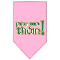 Mirage Pet Products Pog Mo Thoin Screen Print Bandana Light Pink Large
