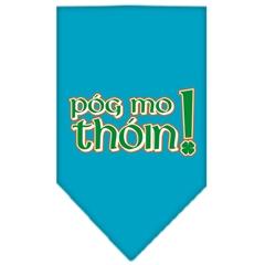Mirage Pet Products Pog Mo Thoin Screen Print Bandana Turquoise Small
