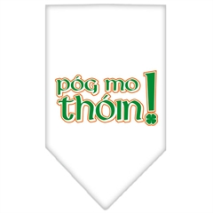 Mirage Pet Products Pog Mo Thoin Screen Print Bandana White Small
