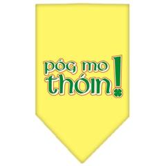Mirage Pet Products Pog Mo Thoin Screen Print Bandana Yellow Small